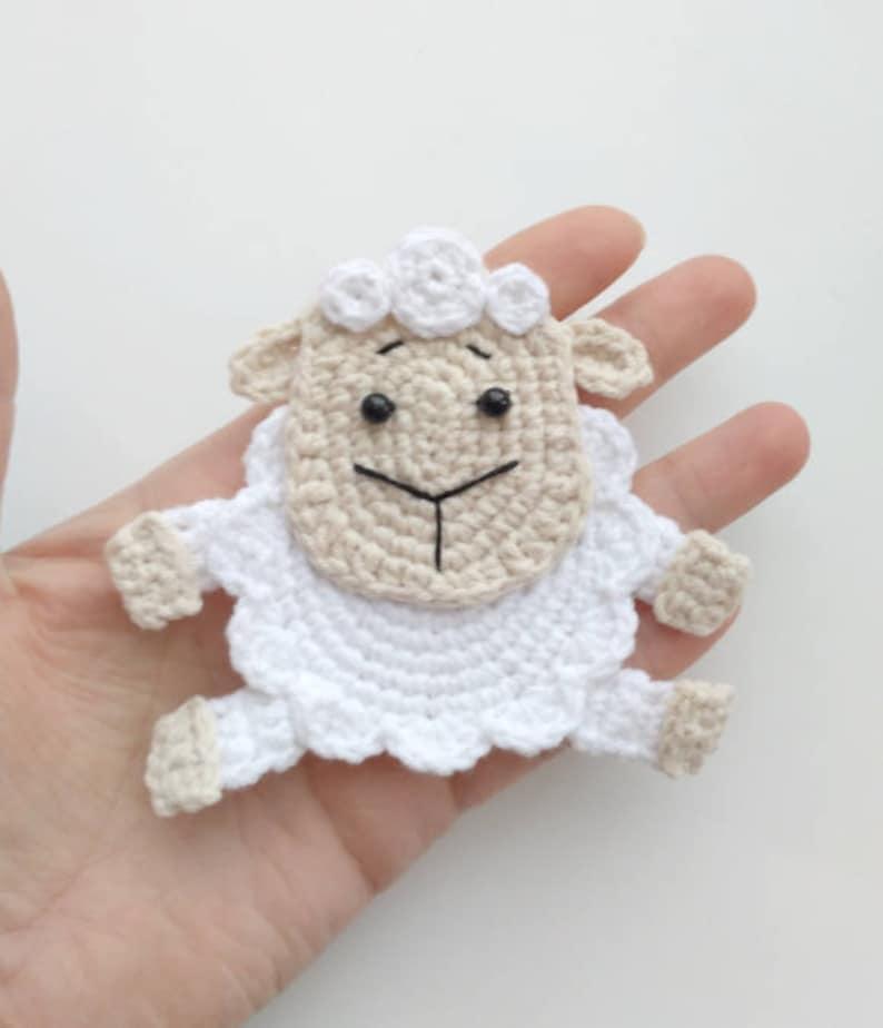 983d2ab6fd7faf PATTERN Sheep Applique Crochet Pattern PDF Crochet Lamb Farm