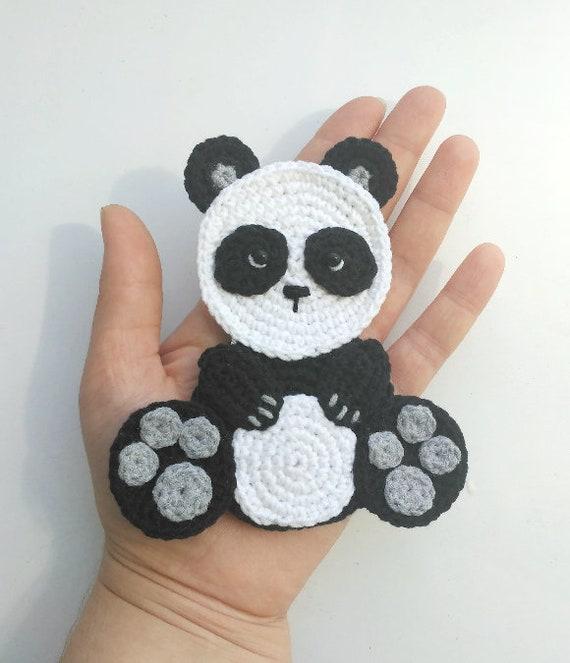 Pattern Panda Applique Crochet Pattern Pdf Bear Crochet Etsy