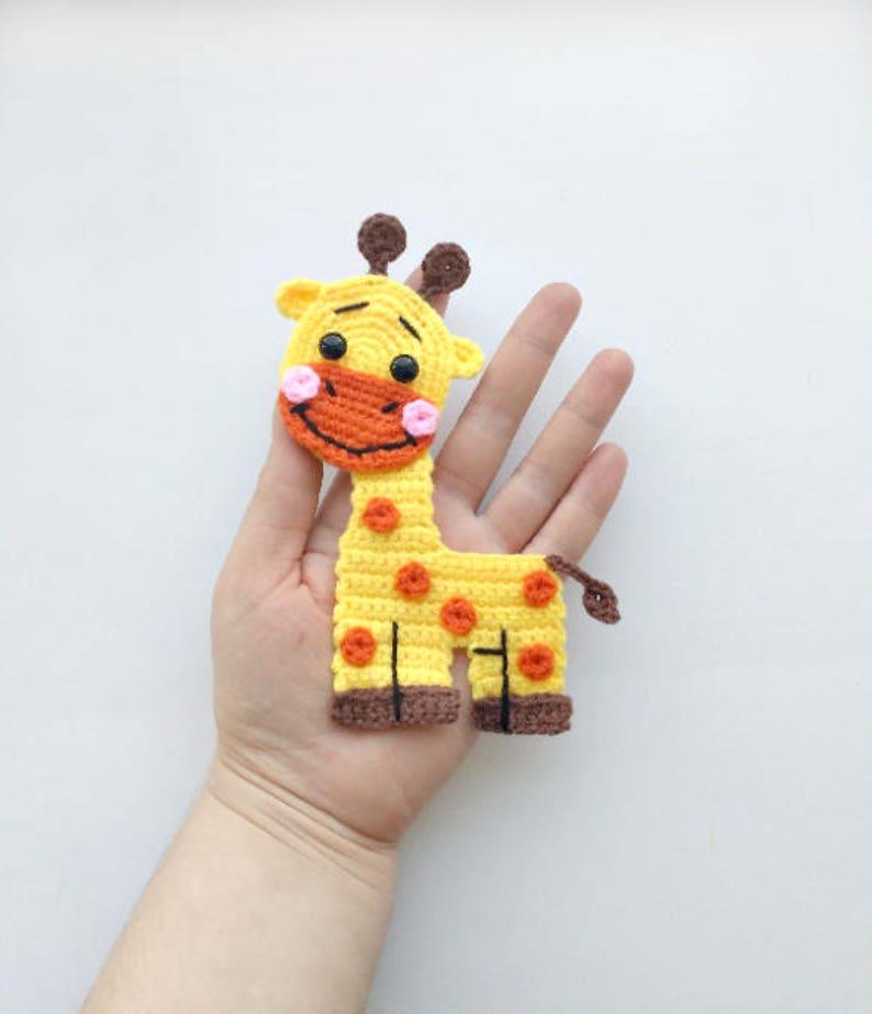 de31d7f0392f26 PATTERN Giraffe Applique Crochet Pattern PDF Jungle Animal