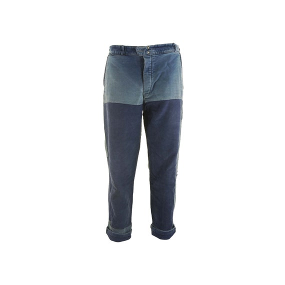 A. Saint Michel Blue Moleskin French Worker Pants
