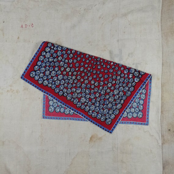 Vintage Cotton Printed Scarf