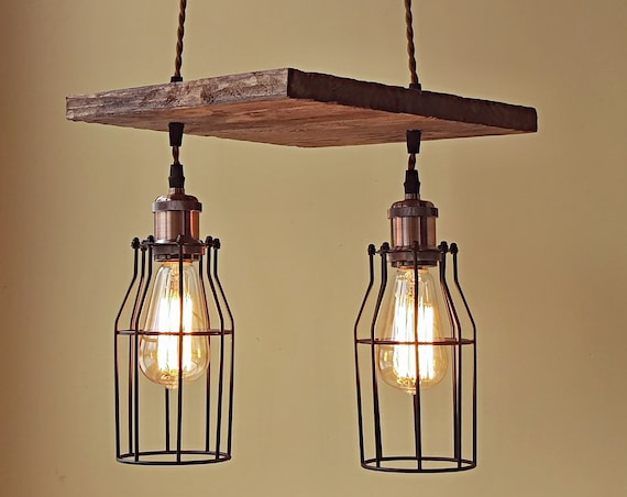 Unique pendant light wood chandelier