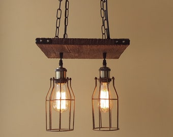 Rustic lighting etsy aloadofball Image collections