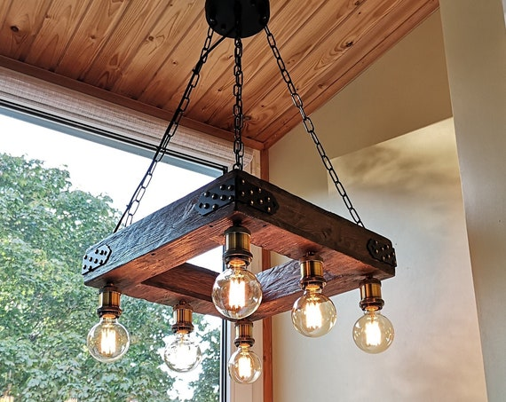 Handmade hanging light