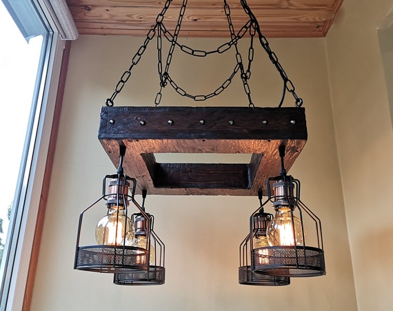 Handmade hanging light