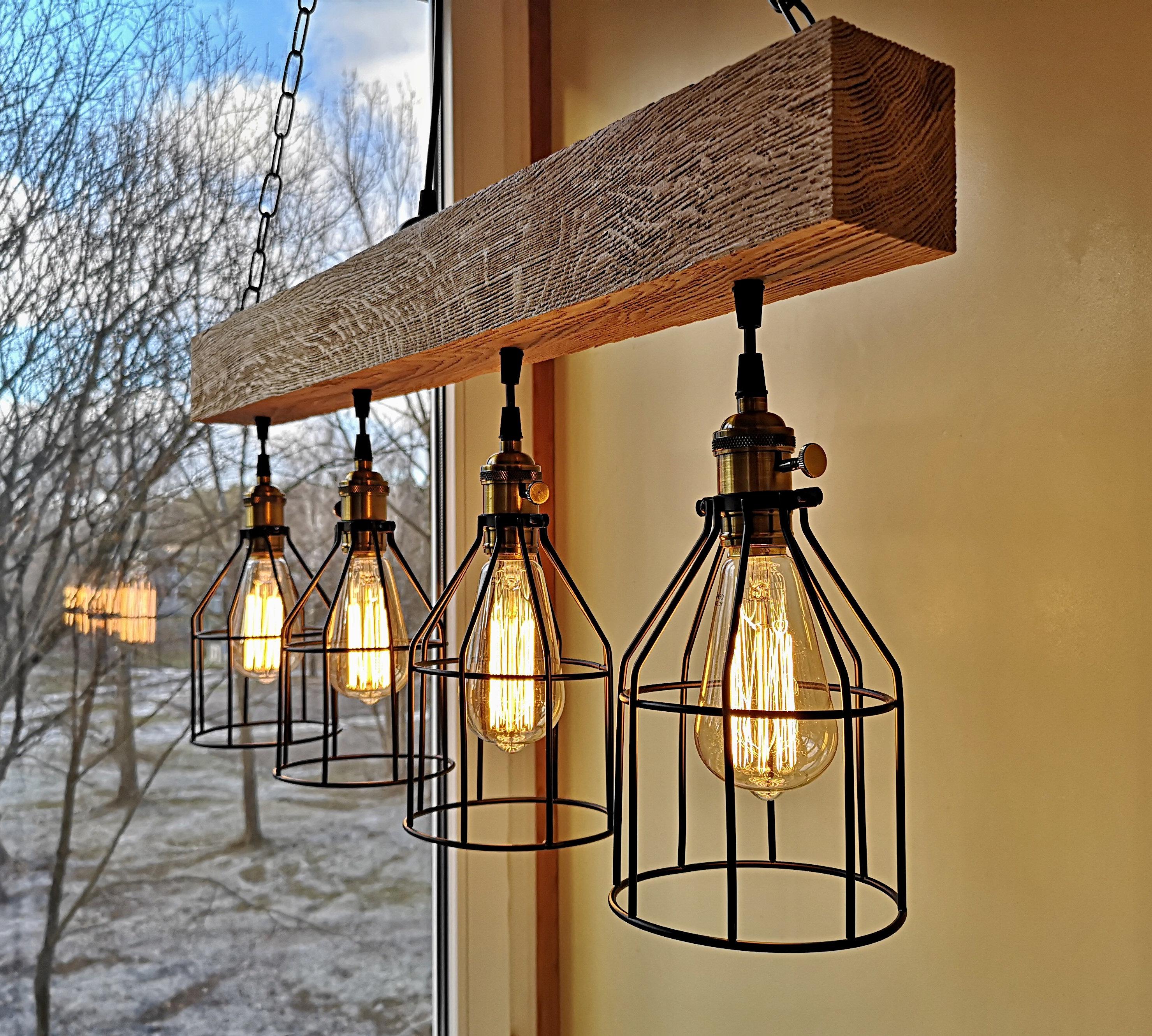 Rustic Lighting Wood Chandelier