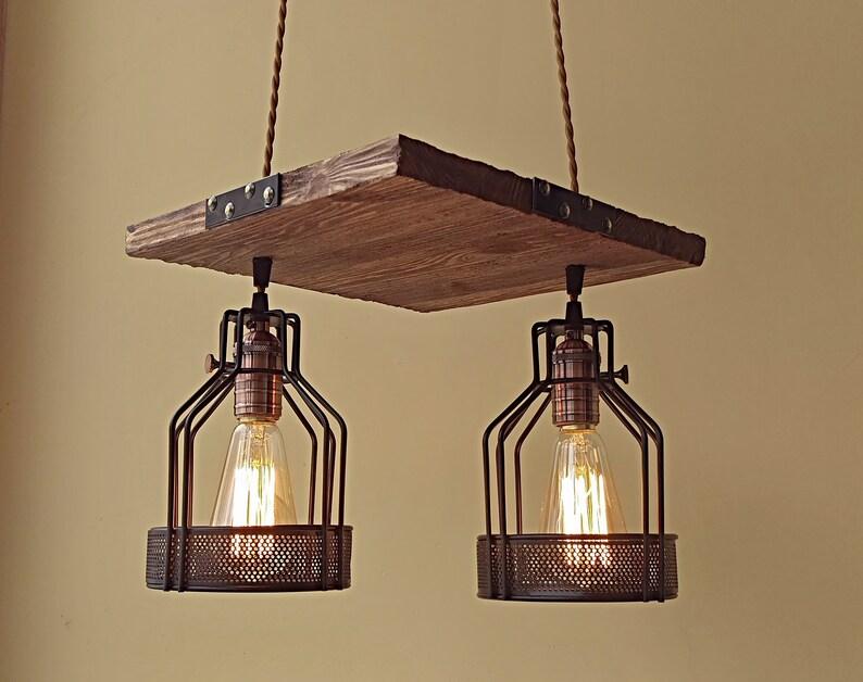 Plafoniere Per Travi In Legno : Plafoniera lampada a sospensione illuminazione luci di etsy