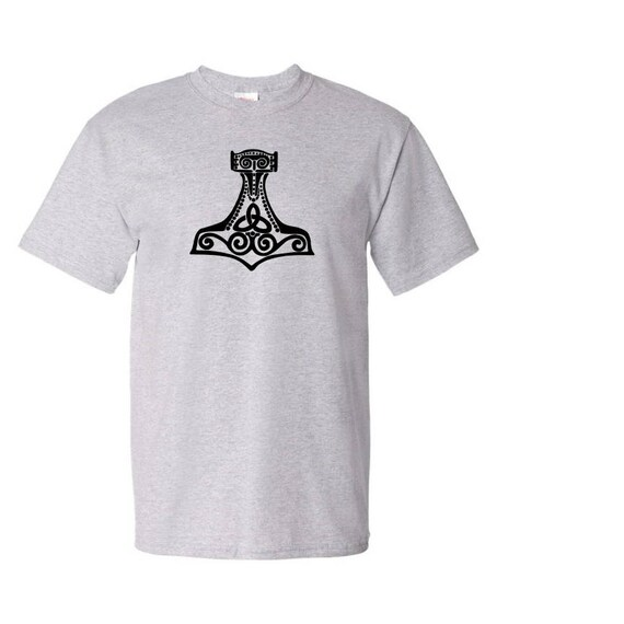 Vikings Norse Hammer Thor T Shirt Graphic Vinyl Design Custom Etsy