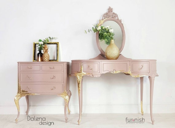 SOLD, SOLD, French Louis style Bedroom Furniture Set by Olympus, French  style Dressing Table with mirror, Louis style Chest of Drawers
