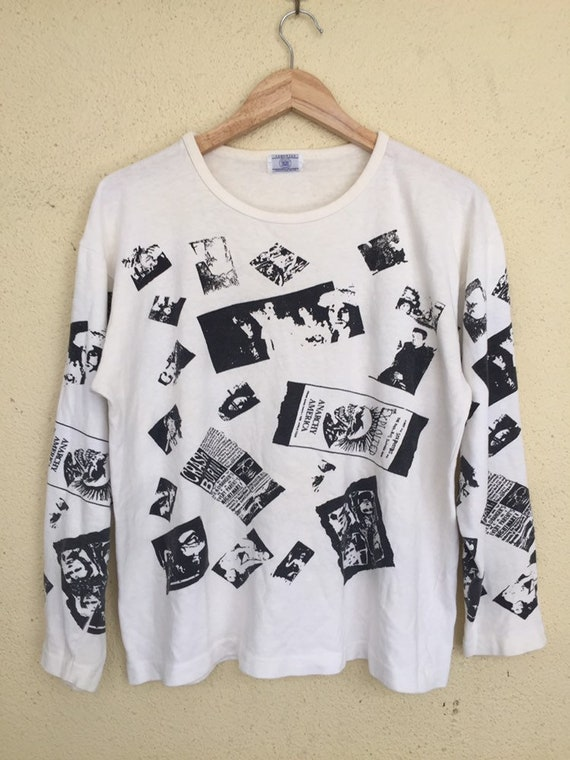 Vintage bootleg exploited punk long sleeve t shirt