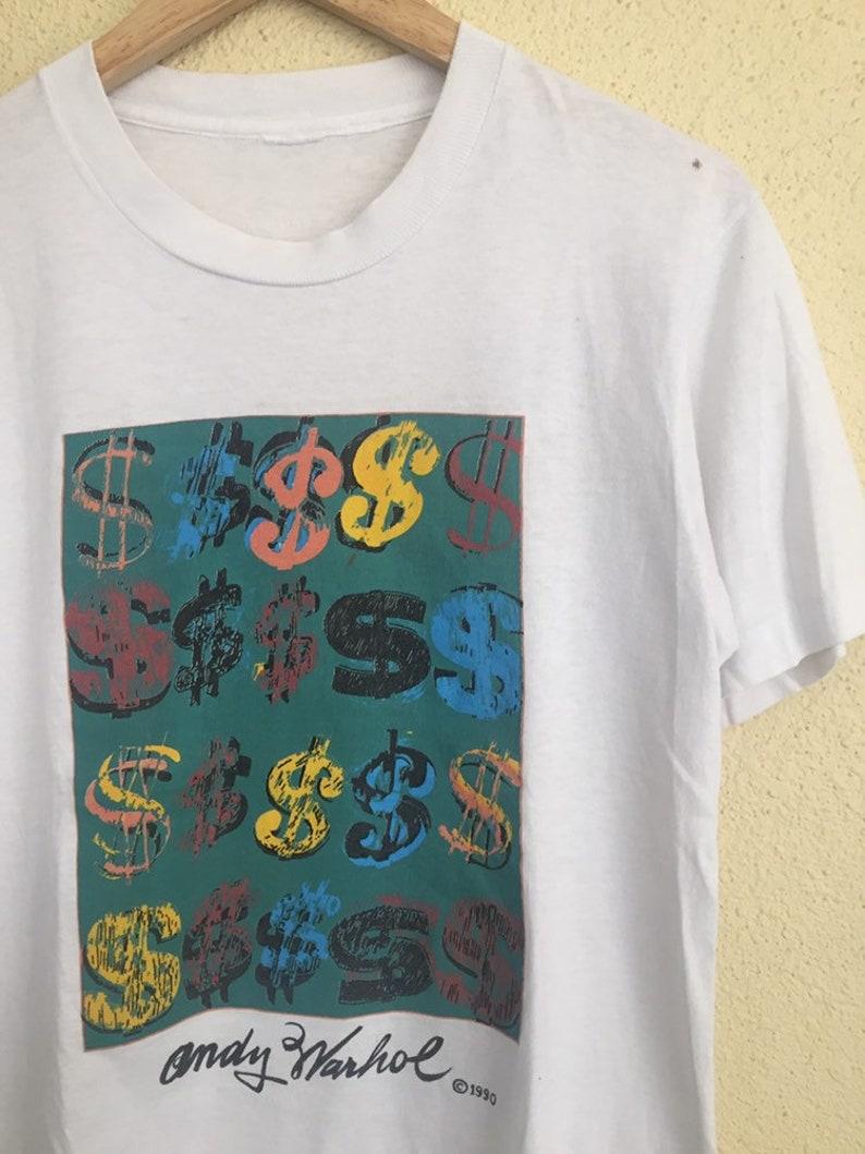 RARE Vintage 90s Andy Warhol pop art t shirt vintage artwork