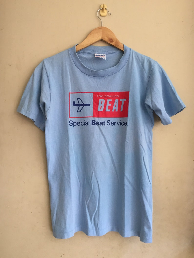 c801d6e08b4 RARE Vintage The Beat band t-shirt/ Special Beat service cover album/  British ska band/ as worn by Gwen Stefani