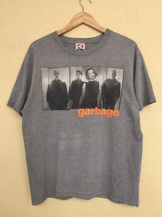 Vintage 90s Garbage band t shirt/ American rock ba