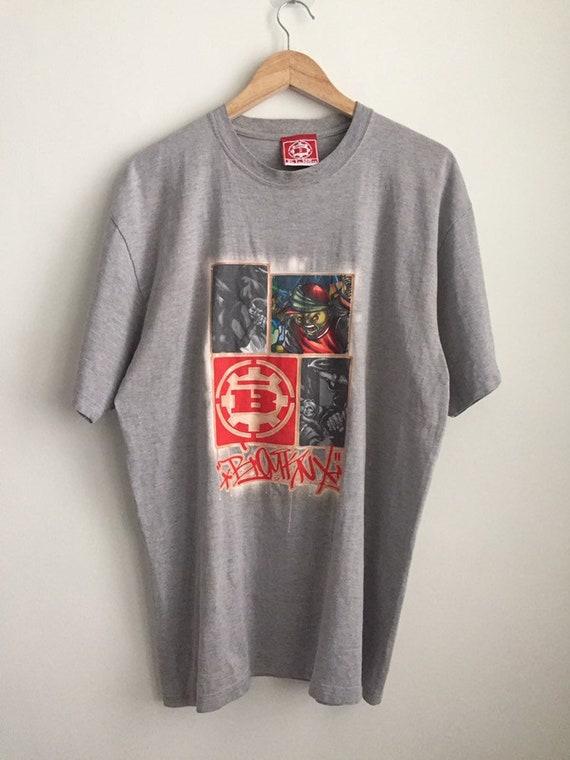 Vintage Raw Element rap hip hop graffiti t shirt