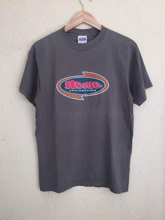 Vintage 90s Acme Skateboard t shirt/ vintage skate