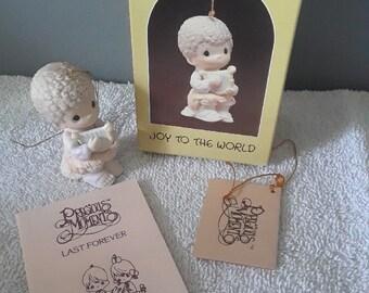 Joy To the World Precious Moment 1984 Ornament