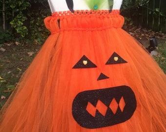 5b707e3db Pumpkin tutu dress