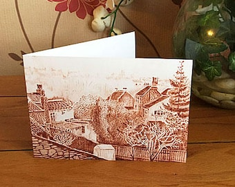 Frenchay Village - greetings card