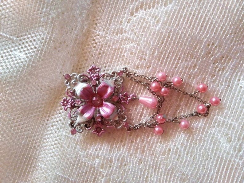 brooch flower brooch old brooch jewelry Vintage brooch antique flower brooch with stones