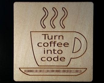 Coder Coaster, Coder Magnet, Software Gift, Developer Gift, Programmer Gift, Computer Gift, Coder Gift, Stocking Stuffer, Software Developer