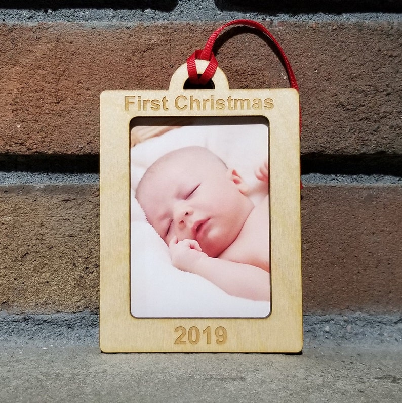 First Christmas OrnamentChristmas 2019EngagedMarriedBaby image 0