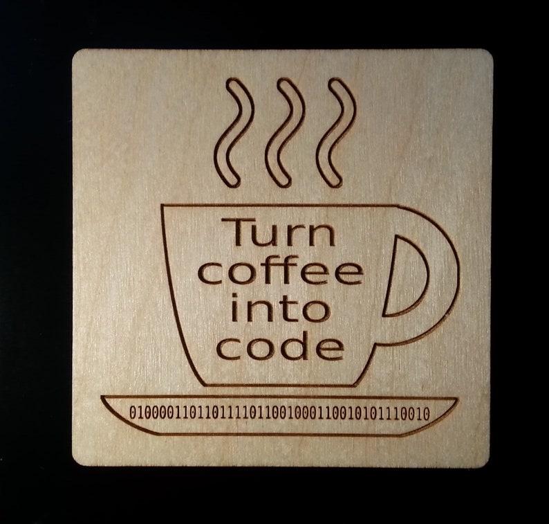 Coder Coaster Coder Magnet Software Gift Developer Gift image 0