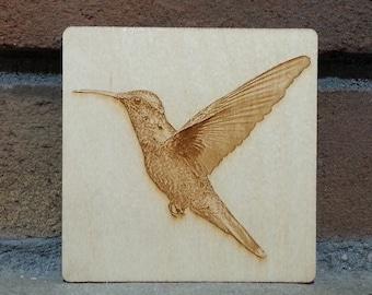 Hummingbird Coaster, Hummingbird Magnet, Hummingbird Gift, Hummingbird Decor, Bird Gift, Christmas Gift, Stocking Stuffer