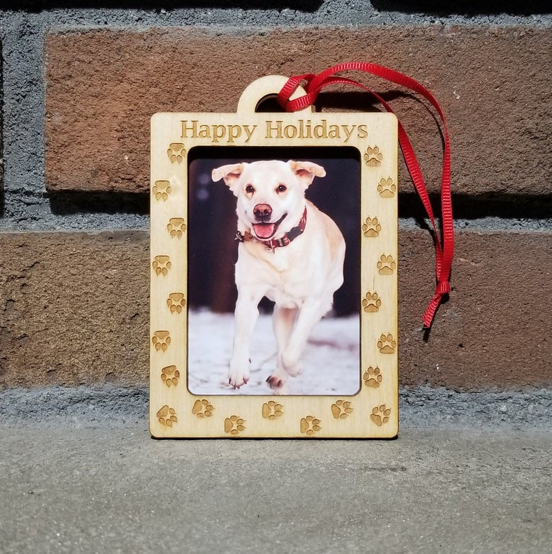 Dog Paw Print Ornament Picture Frame Ornament Photo Frame image 0