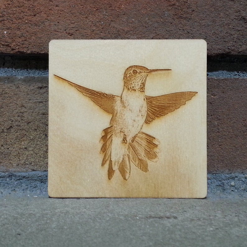 Hummingbird Coaster Hummingbird Magnet Hummingbird Gift image 0
