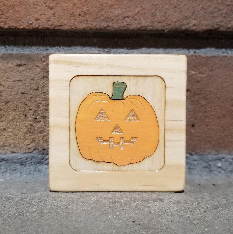 Jack O' LanternPumpkin BoxHalloween Box Little Wooden image 0