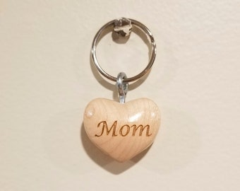 Mom Keyring, Maple Keyring, Stocking Stuffer, Gifts for Her, Gifts for Mom, 5th Anniversary Gift, Mom Keychain