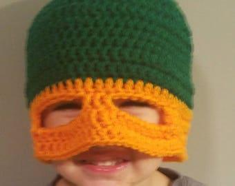 Crochet ninja turlte hat