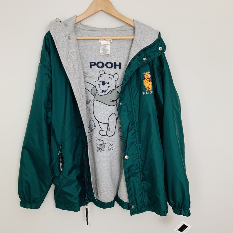 Disney Jacket Retro Windbreaker Jacket 90s Disney jacket 90\u2019s jacket 90\u2019s Winnie Pooh Windbreaker Jacket