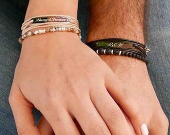 2479 Couple Bracelets His Hers Matching Jewelry Lovers Girlfriend Hot Sale Fashi