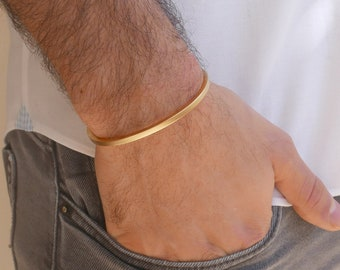 Xmas Gift for Him Silver Male Cuff Mens Bracelet Stamped Cuff