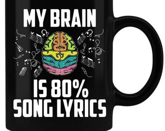5e244b7eedd6 My Brain Is 80% Song Lyrics - Funny Mug
