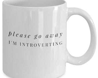 Introvert, funny mug, funny coffee mug, gift for her, christmas gift idea, Introvert gift , introvert gifts , introvert mug , introvert mugs