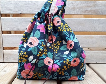 Multi Bag, 100% upcycled in pink floral