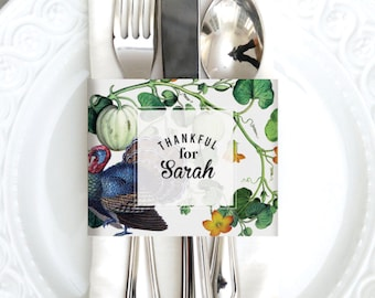 INSTANT DOWNLOAD - Thanksgiving Napkin Holder