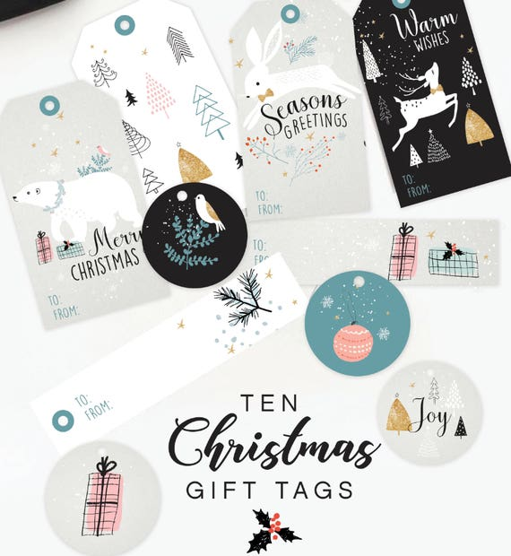 Printable Christmas Gift Tags Diy Christmas Tags Christmas Gift Tags Digital Christmas Tags Instant Download