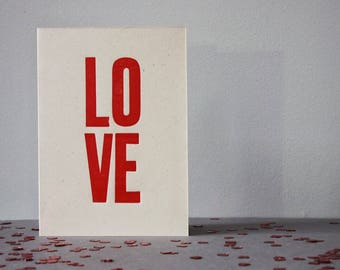 Bold//just to say//mum//mother//someone special//simple//sentiment//LOVE//letterpress//Red//luxury card//