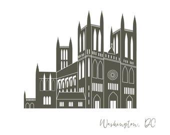 Washington DC National Cathedral Card A2