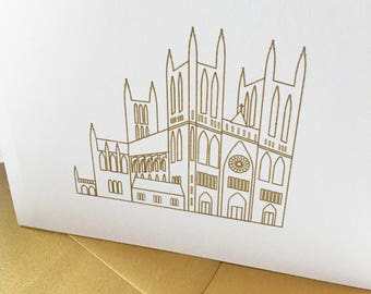 Gold Embossed National Cathedral Stationery Set