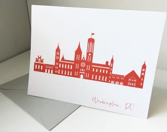 Washington DC Smithsonian Castle Card