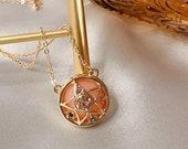 Crystal star locket necklace, moon wand, sailor moon pendant, crescent moon, anime, sailormoon crystal, star locket, moon crisis makeup