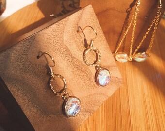 fdf392e85 Mermaid accessories / Rainbow earring / space Earrings/ Cute Drop Chain  Earrings/ Minimalist/ disney accessory/ disney princess earring