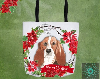 Basset Hound Dog Personalised Tote Shopper Bag I/'m a Crazy Basset Hound Lady