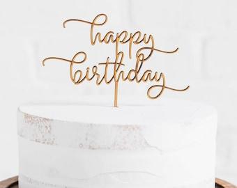 Personalized Happy Birthday Cake Topper // Happy birthday Party // Happy birthday // Cake Topper // Happy Birthday Topper// Birthday Party