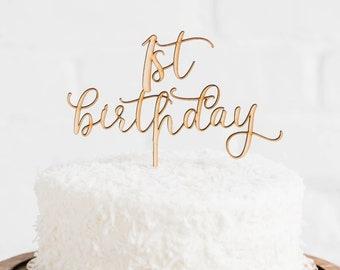 1st Birthday Cake Topper // Happy birthday Party // Happy birthday // Cake Topper // Custom Cake Topper // Happy Birthday Topper