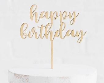 Happy Birthday Cake Topper // Happy birthday Party // Happy birthday // Cake Topper // Happy Birthday Topper// Birthday Party / Gold Topper